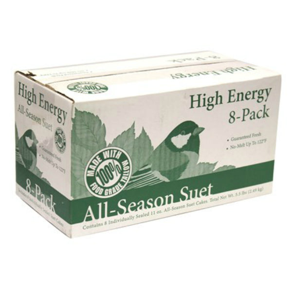 Heath™ DD4-8 Bird's Blend High Energy All-Season Suet Cakes, 11.25 Oz, 8-Pack