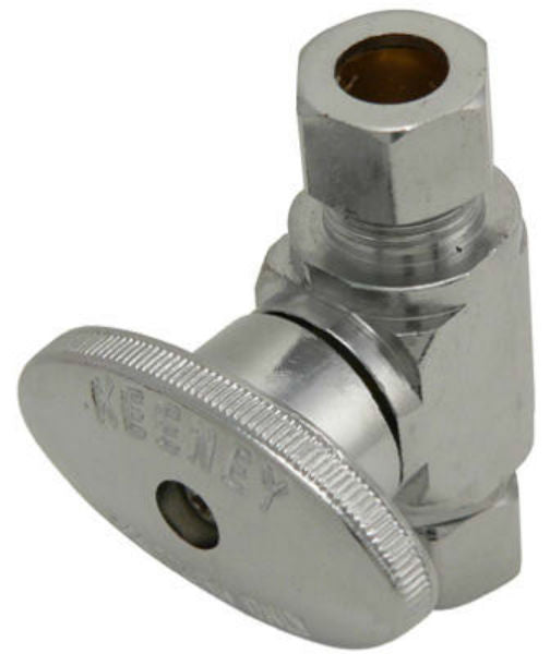 "Plumb Pak® PP2072LF Quarter Turn Repair Valve, 3/8"" x 3/8"", Chrome Plate Brass"