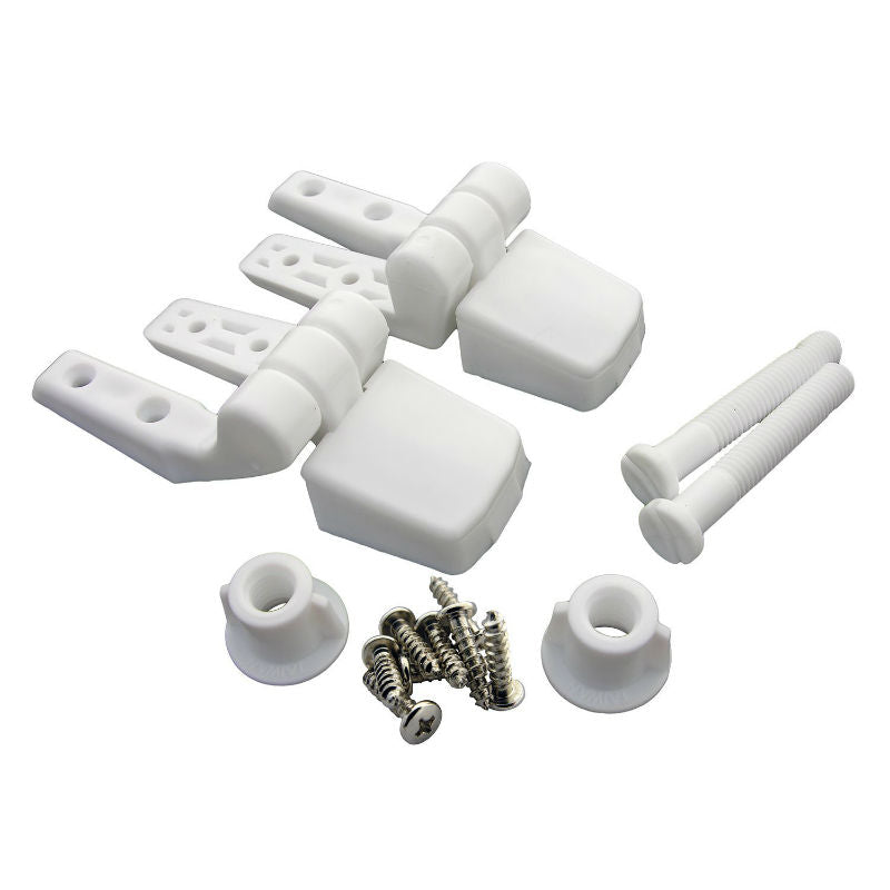 Lasco 14-1039 Replacement Toilet Seat Hinge, White, 2-Piece