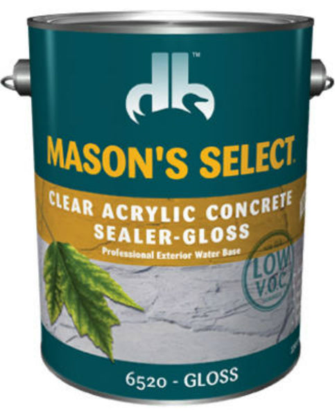 Mason's Select® DPI065204-16 Low VOC Concrete Sealer Stain, Clear Glass, 1 Gal