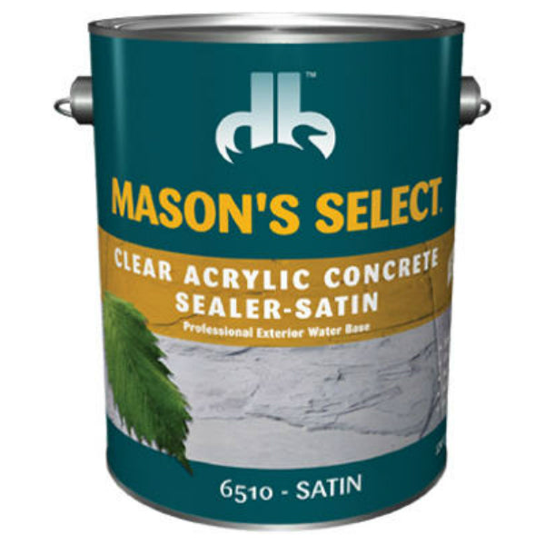 Mason's Select® DB0065104-16 Clear Acrylic Concrete Sealer, Clear Satin, 1 Gal