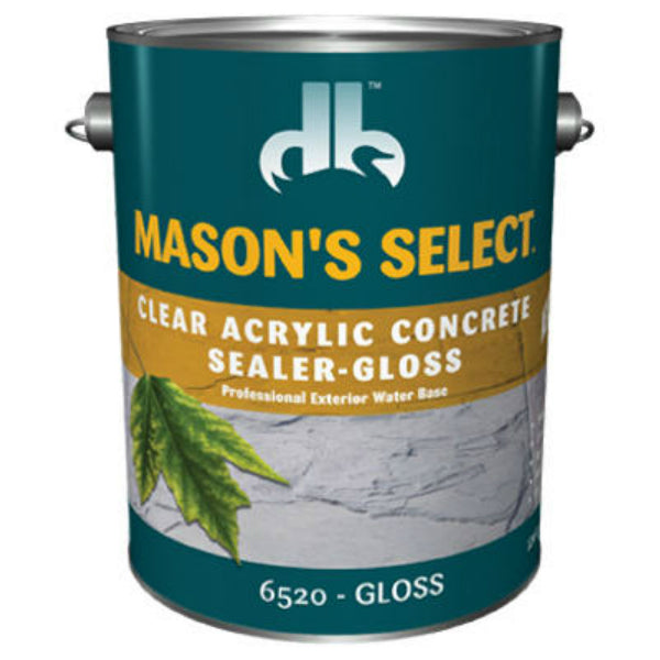 Mason's Select® DB0065204-16 Clear Acrylic Concrete Sealer, Gloss, 1 Gallon