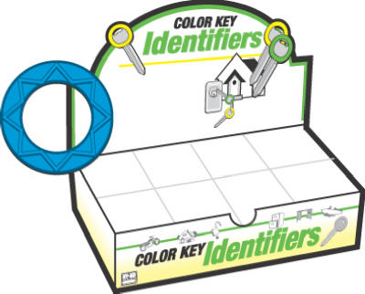Hy-Ko KB130-200 Multi-Colored Key Identifier, Assorted Colors