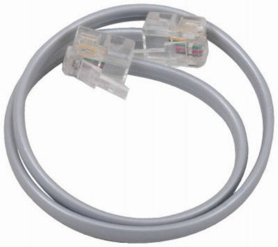 RCA TP130R Phone Line Cords with Connectors, Silver Color, 12""