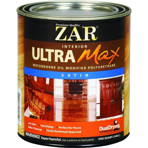 ZAR® 36212 Ultra Max Waterborne Oil Modified Polyurethane, Satin Sheen, 1 Qt