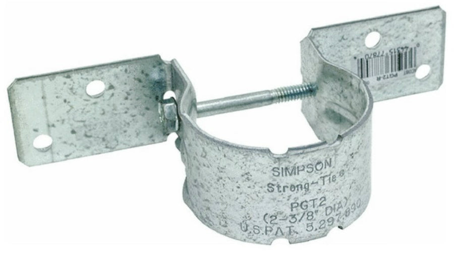"Simpson Strong-Tie PGT2-R Pipe Grip Tie, 12 Gauge, 2-3/8"" OD"