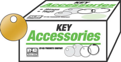 "Hy-Ko KB147 Round Key Tag, 1-1/8"", Solid Brass, 100-Pack"