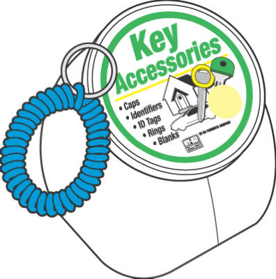 Hy-Ko KT154 Wrist Coil Key Holder with Split Ring, 50-Pack