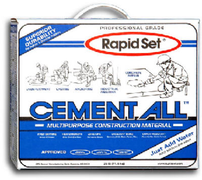 Rapid Set 10125 Cement All Box, 25 lb
