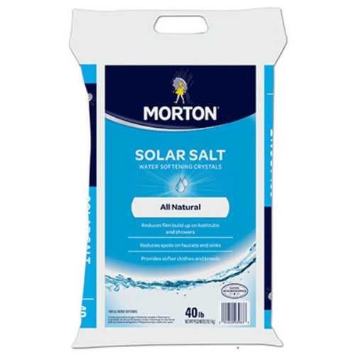 Morton® Salt 3983 White Cyrstal Extra Coarse Solar Salt, 40 lbs