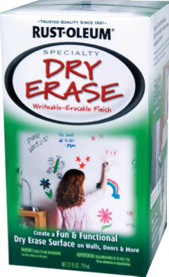 Rust-Oleum® 241140 Specialty Dry Erase Brush On Paint, 1 Qt, White
