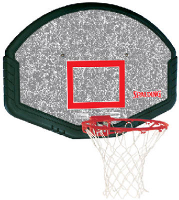 Spalding 80348 Eco-Composite Fan Shape Backboard Combo, 48""