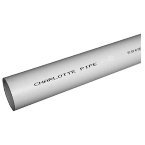 "Charlotte Pipe® PVC042000600HA Schedule 40 Pipe, Foam Core, Plain End, 2"" x 10'"