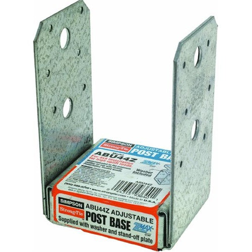 Simpson Strong-Tie ABU44Z Uplift Post Base Z-Max, 4 x 4