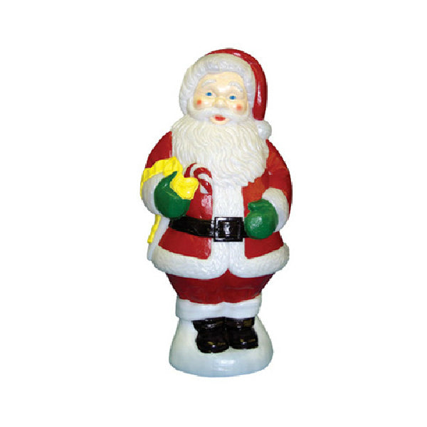 General Foam C5280TS Lighted Santa Holding Candy Cane Christmas Figurine, 31""