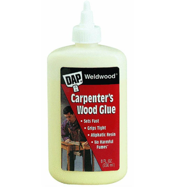 Dap® 00490 Weldwood® Professional Carpenter's Wood Glue, 8 Oz, Yellow