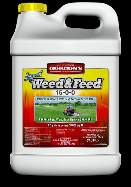 Gordon's® 7311122 Liquid Weed & Feed Concentrate, 15-0-0, 2.5 Gallon