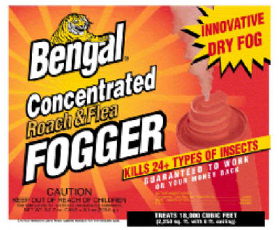 Bengal Chemical 55201 Concentrated Roach & Flea Fogger, 3-Pack