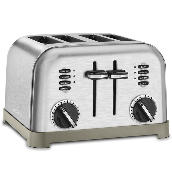 Cuisinart® CPT-180 Metal Classic 4-Slice Toaster, Brushed Stainless Steel