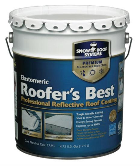 Snow Roof® RB-5 Roofers Best® Professional Reflective Roof Coating, 5 Gal