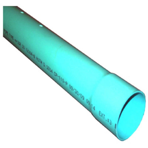 "Charlotte Pipe® S/M06004P0600 SDR 35 PVC Sewer Pipe, Bell End, 4"" x 10', Green"