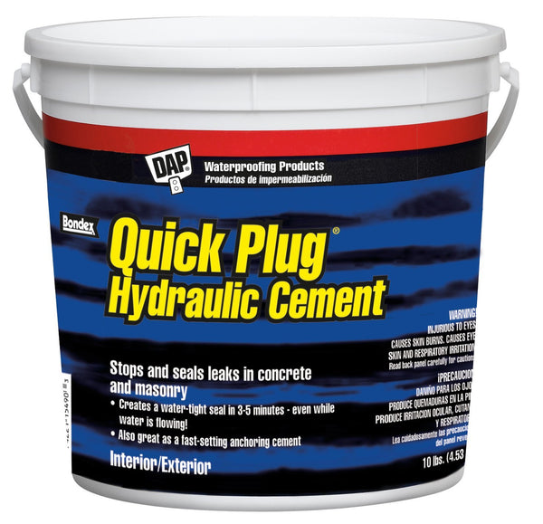 Dap® 14090 Quick Plug® Hydraulic & Anchoring Cement, 10 Lbs, Gray