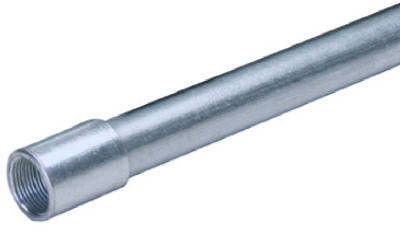 "Allied Tube & Conduit Galvanized Steel Rigid Conduit, 1/2""x10'"