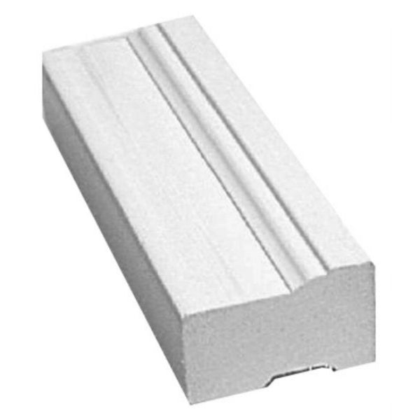 Gossen® 635-0800-986 Brick Mould Virgin Exterior PVC Moulding, White, 8'