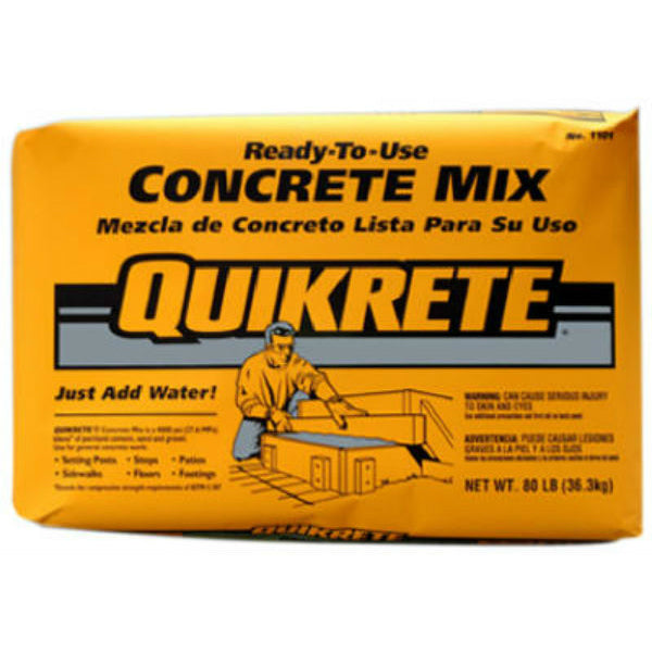 Quikrete® 110180 Ready-To-Use Concrete Mix, 80 Lbs