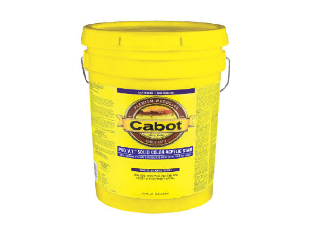 Cabot® 0806-08 Solid Color 100% Acrylic Latex Siding Stain, Neutral Base, 5 Gallon