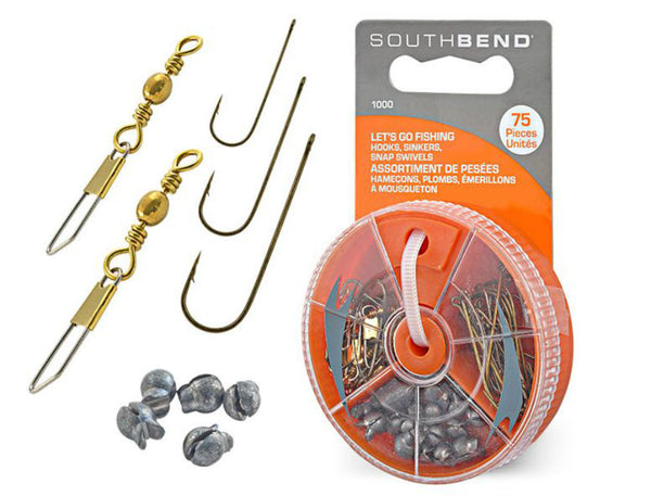 South Bend® 1000 Hooks/Sinkers & Swivels Assortment, 75-Piece