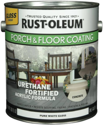 Rust-Oleum® 248167 Porch & Floor Pastel Tint Base, Gloss, 1 Gallon, Pure White