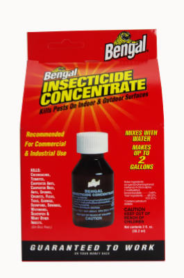 Bengal 33100 Insecticide Concentrate, 2 Oz, Pale Yellow, Liquid