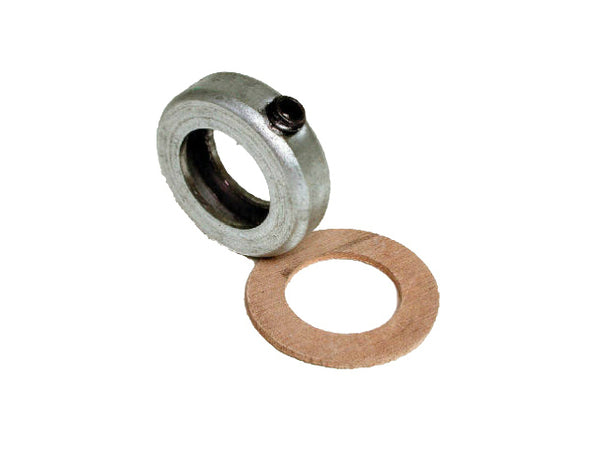 Dial Mfg 6845 Steel Collar with Set Screw & Leather Washer, 3/4""