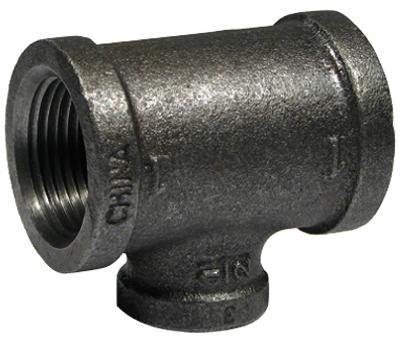 "PanNext B-RT21005 Reducing Tee 1"" x 1/2"", Black"