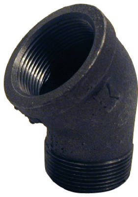 PanNext B-S4515 Black Street Elbow, 1-1/2""