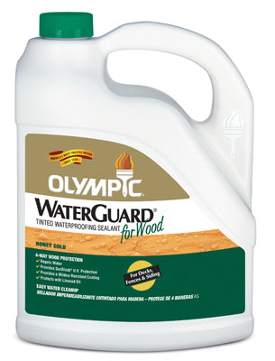 Olympic Waterguard Wood Waterproofing Sealant 1 Gallon, Honey Gold
