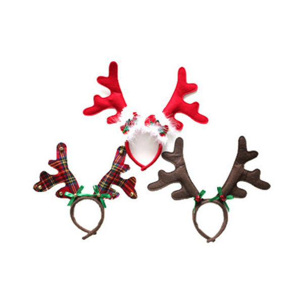 Dyno Seasonal Solutions 0408615CC Felt Christmas Antler Headband, 9""