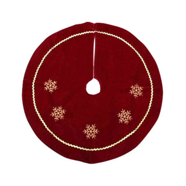 "Dyno Seasonal Solutions 2243210-2CC Velvet Mini Tree Skirt, 24"", Burgundy/Gold"