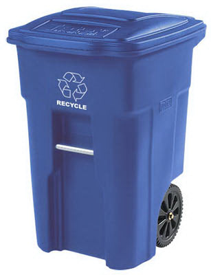 Toter 2 Wheel Recycle Cart 48 Gallon, Blue