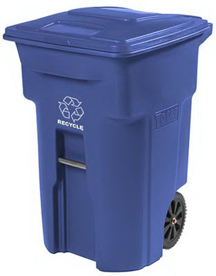 Toter 2 Wheel Recycle Cart 64 Gallon, Blue