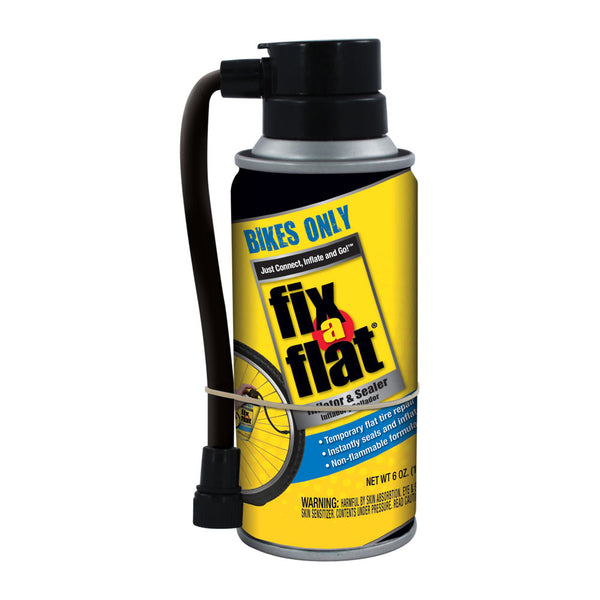 Fix-A-Flat® S60136 Tire Inflator & Sealer Aerosol with Hose for Bikes Only, 6 Oz