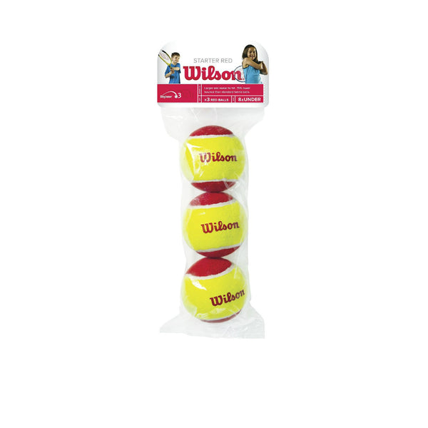 Wilson® WRT137000 US Open Red Tennis Ball, Red/Yellow, 3-Pack