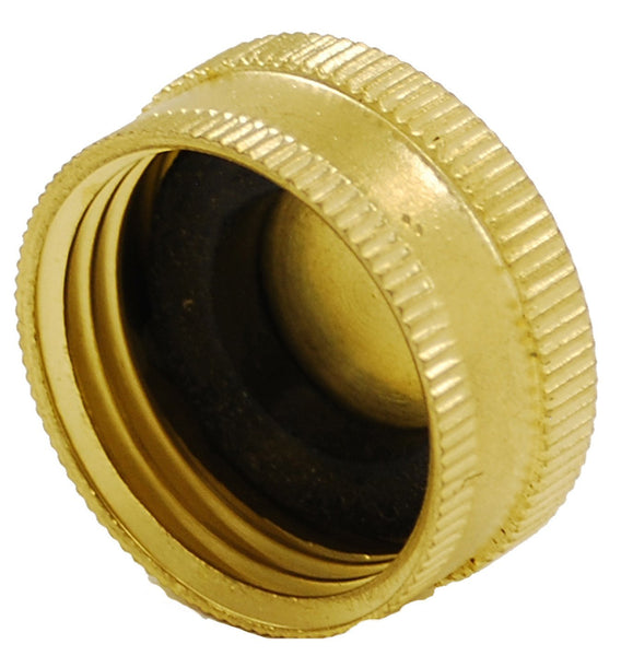 Gilmour 05HCC Heavy-Duty Solid Brass Hose Cap with Washer, 2-Pack