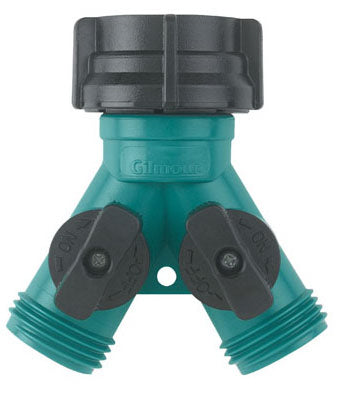 Gilmour 17 Poly Dual Shut-Off Connector, Teal/Black