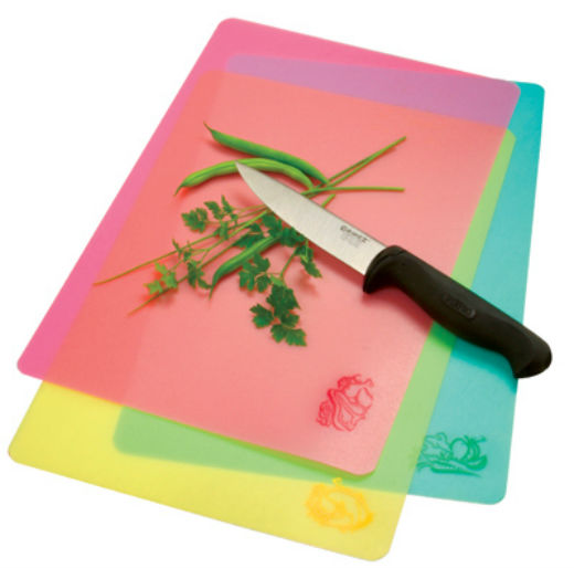 Norpro 39 Color & Icon Cut & Slice Cutting Board, Set of 3