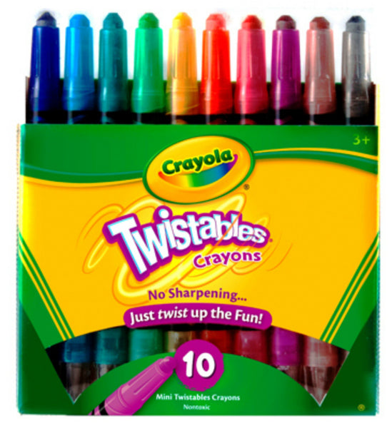 Crayola 52-9715 Twistable Crayons, 10 Count