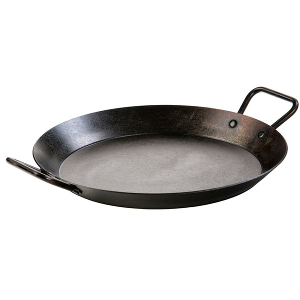 Lodge CRS15 Pre-Seasoned Carbon Steel Paella Pan with Helper Handles, 15""