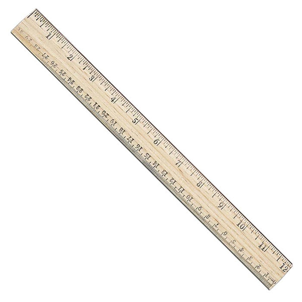 Westcott 10377 Wood School Ruler, 12""