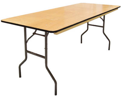 Pre Sales 3808 Plywood Folding Table With Bullnose Edge, 8' x 30""
